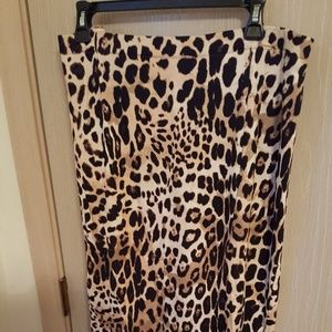 Lane Bryant Leopard Skirt